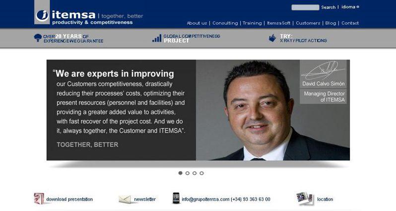 La web de ITEMSA, desde ahora, también en inglés