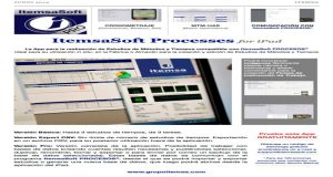 ITEMSA presenta ItemsaSoft Processes for iPad