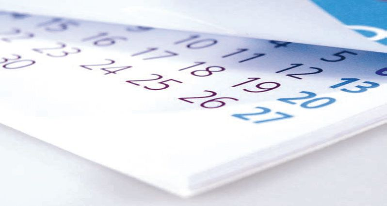 Calendario cursos Septiembre-Diciembre 2016