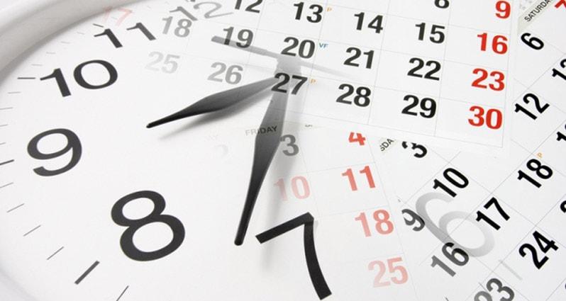 Calendario Septiembre Diciembre 2018